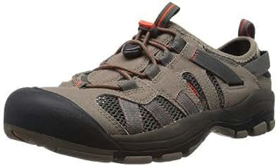 KEEN Men's Mckenzie Water Shoe,Brindle/Mandarin Red,7.5 M US