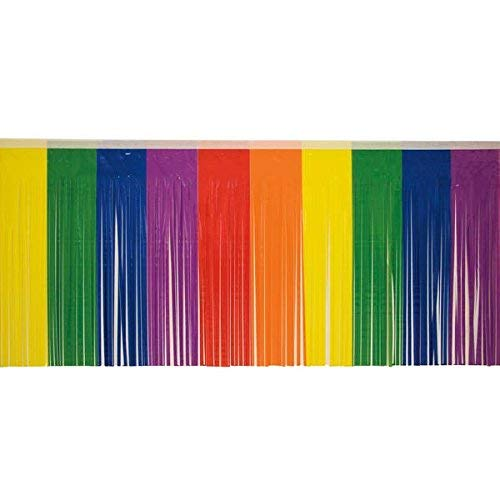 Rainbow Fringe, 15 inches high x 10 feet long decorating supplies ()