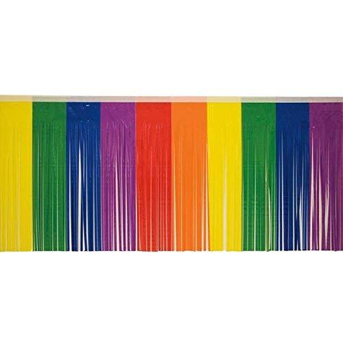Rainbow Fringe, 15 inches high x 10 feet long decorating -