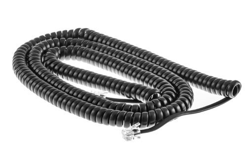 Cisco 25 Ft Gray Curly Cord (25 Ft Uncoiled / 4 ft Coiled)