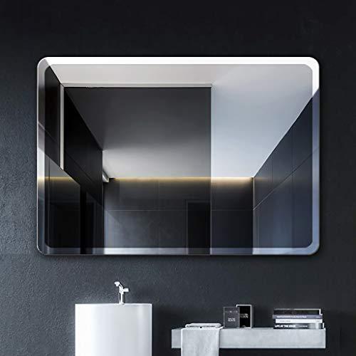 Frameless Flat Mirror Medicine Cabinet - QAQ Wall Mirror Bathroom Makeup Mirror Frameless Fillet Rectangle Wall Mount Bathroom Mirror - Makeup mirror丨Vanity Mirror丨Shaving Mirror, Fashion Bathroom Decoration (3545/4060/5070/6080/7090/80100