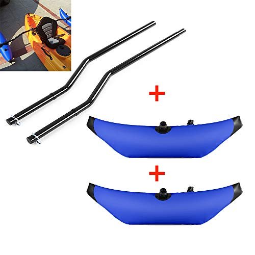 Lixada 1 Pair Kayak Outrigger Sidekick Arms Canoe Boat Fishing Stablizer System Rack Mount + Kayak PVC Inflatable Outrigger Kayak Canoe Fishing Boat Standing Float Stabilizer ()