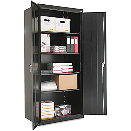 Alera ALECM7824BK Assembled 78 High Storage Cabinet W Adjustable Shelves 36w X 24d Black