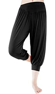 9db9e610749 fitglam Women s Harem Capri Pants Comfy Cropped Yoga Jogger Workout Lounge  Pants