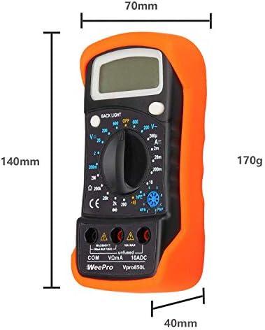 Medidor de Energ/ía Corriente Volt/ímetro Digital Voltimetro Amperimetro Digital Monitor Energ/ía LED CA Alta Precisi/ón Multifuncional Mini Amper/ímetro Volt/ímetro 79 x 43 x 48 mm AC 220V