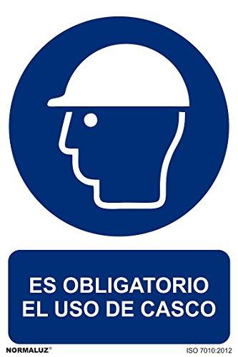 Señal RD20000 Es Obligatorio El uso de Casco 21x30 cm PVC ...
