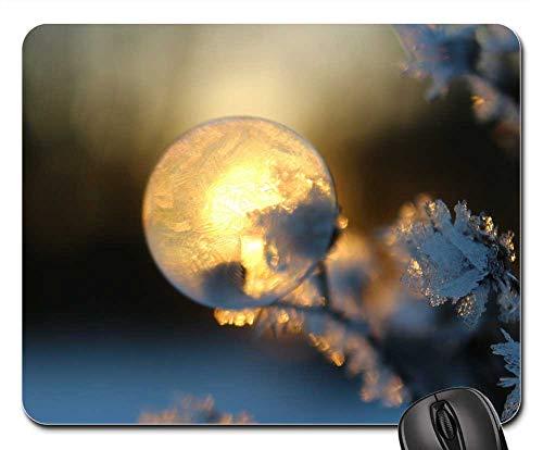 - Mouse Pad - Soap Bubble Frost Blister Winter Eiskristalle