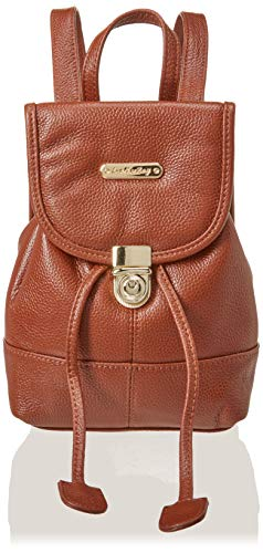 Leatherbay Women's Mini Backpack/Dark Brown Fashion, One -