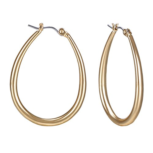 ZRDMN European And American fashion The U-shaped copper ear nail earrings, gold Jewelry Earrings Water Drop Pendant Stud Earrings for Womens ()