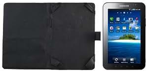 Samsung Galaxy Tab Leather Case Folio - Black