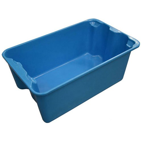 Molded Fiberglass Toteline Nest and Stack Tote 7804085268 - 20-1/2'' x 12-7/8'' x 8'', Blue - Lot of 10