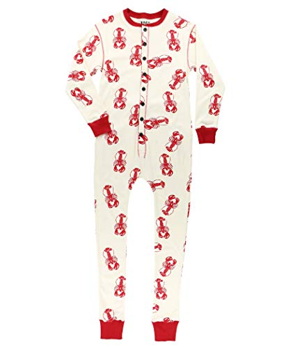 Lobster Trap Door Adult Flapjack Onsie Pajamas by LazyOne | Adult Kid Infant Dog Family Matching Pajamas ()