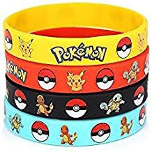 24 Count Pokemon Rubber Bracelet Wristband - Birthday Party Favors Supplies Full Set