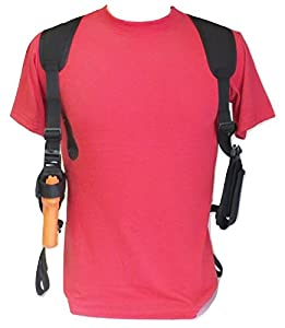 Federal Left Hand Shoulder Holster for Full Size S&W M&P & M&P 2.0 9mm, 40 & 45 - Dbl Mag Pouch