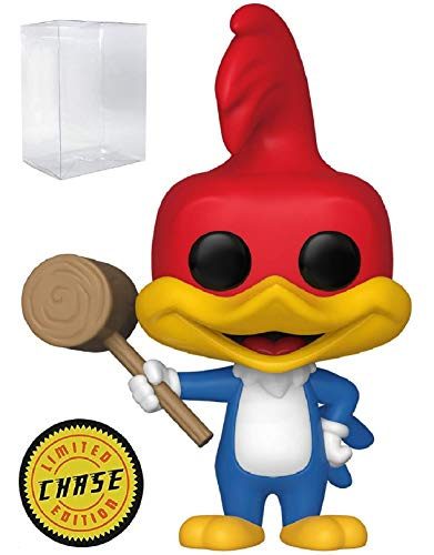 Funko Animation: Woody Woodpecker - Woody Woodpecker with Mallet Limited Edition Chase Pop! Vinyl Figure (Includes Compatible Pop Box Protector Case)