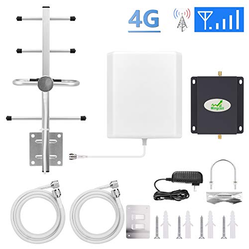 ignal Booster 4G LTE Mobile Signal Booster Mingcoll 700Mhz Band 13 Cellular Signal Booster Amplifier - Enhance Cell Signal (BV70-S8W) ()