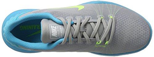 Nike Womens Flex Supreme Tr 5 Scarpa Da Allenamento Cross Lupo Grigio / Verde Fantasma / Blu Cloro