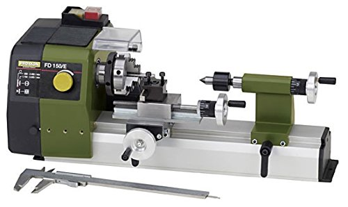 Proxxon Fine Lathe FD 150//E Spindle Speeds up to 5,000//min Speed Control 24150 Precise Lathe with 2-Stage Belt Drive Item No
