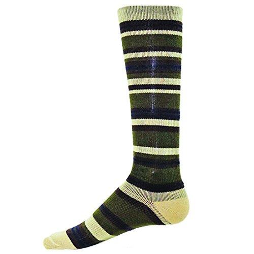 POSH Socks Lexington Mens Dress Compression Socks ( Beige - Large )