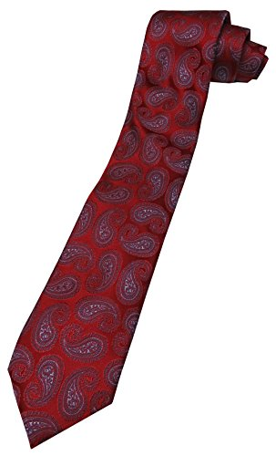 Donald Trump Signature Collection Neck Tie Red and Blue Paisley w/Gold Emblem - Trump Signature Collection