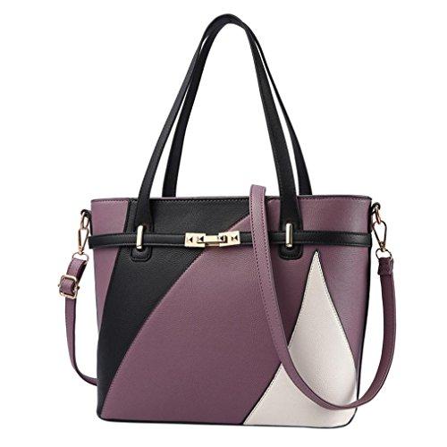 Luoluoluo Borse Tote Donne versatile PU in pelle spalla borsa borsa Messenger Bag borsa borsa crossbody casual tote Viola