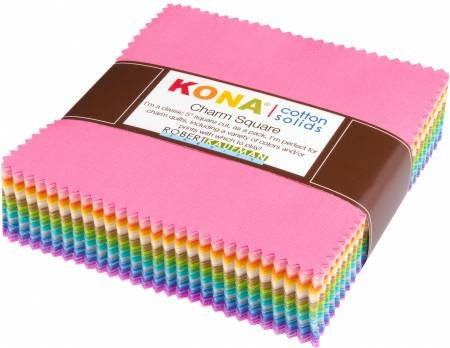 Kona Cotton Pastel 101 Palette Charm Square 101 5-inch Squares Charm Pack Robert Kaufman CHS-562-101