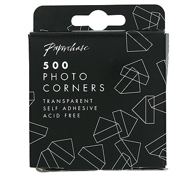 Pack of 500 Paperchase Transparent Photo Corners