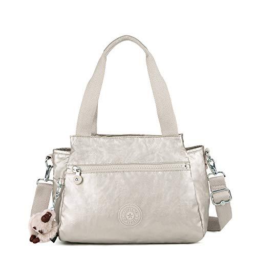 Kipling Elysia Metallic Handbag Cloud Grey Metallic