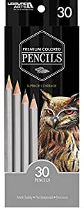 30-Pack Pre-Sharpened Premium Colored Pencils - Artist's Quality, Great for Coloring, Coloring Books, Sketching and Drawing | Leisure Arts