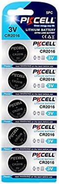 PK Cell CR2016-5B - Pilas planas de manganeso (litio, 3,0 V, 5 unidades)