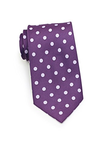 (Bows-N-Ties Men's Necktie Bold Polka Dot Microfiber Satin Tie 3.1 Inches (Grape Purple and Lavender))