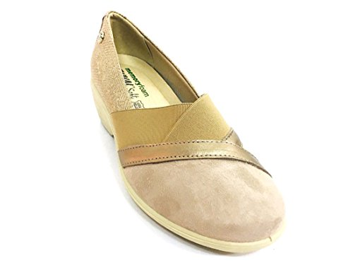 Enval Beige Leather Woman Moccasins In Shoes SOFT1252922 Italy Ballerinas Blue Made OqZxwaOpr