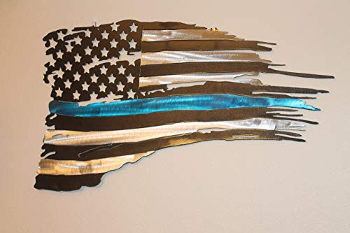(Tattered Blue Line Flag)