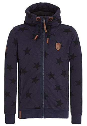Naketano Men's Zipped Jacket Dreamchaser Dirty Dark Blue Melange, - Apparel Dreamchasers