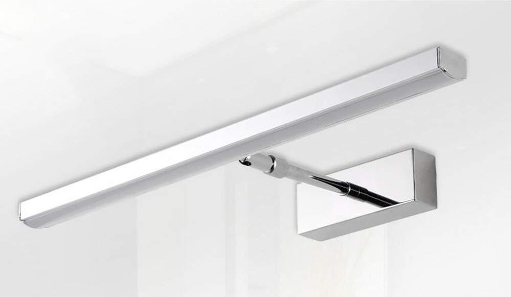 Minimalistischen Modernen Edelstahl Led-Spiegel Licht Badezimmer Spiegelschrank Badezimmer Einziehbaren Wandleuchte (Farbe  Weiß-53Cm)