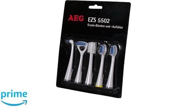 AEG EZ 5502 - Cabezales de repuesto para cepillo de dientes eléctrico (varias funciones, 5 unidades): Amazon.es: Salud y cuidado personal
