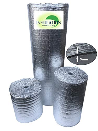 SmartSHIELD -5 HVAC Duct Pipe Wrap Windows RV Garage Reflective Insulation Foam Core Pure Aluminum 16''X25ft ()