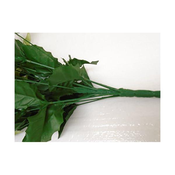 """Green Christmas Poinsettia Bush 24 Artificial Silk Flowers 24"""" Bouquet 030GN"""