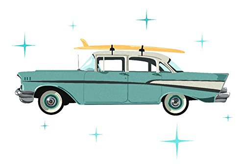Master Chevy 36 (Retro Chevy (24x36 SIGNED Print Master Giclee Print w/ Certificate of Authenticity - Wall Decor Travel Poster))