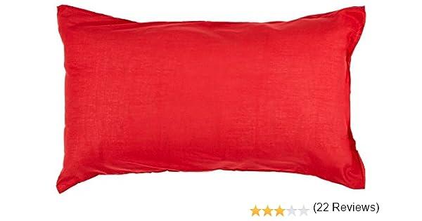 Funda de Almohada 50x75 cm Atmo Uni roja: Amazon.es: Hogar