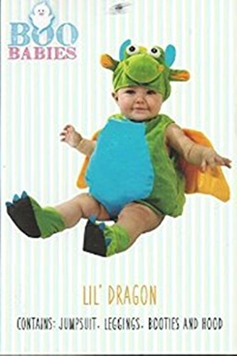 Boo Babies Halloween Costume Green Lil Dragon Sz 9-18 Months 4 Pieces Wings (Dragon Costumes For Baby)