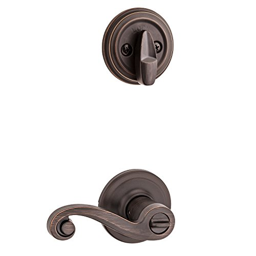 Kwikset 991 Lido Entry Lever and Single Cylinder Deadbolt Combo Pack featuring SmartKey in Venetian Bronze by Kwikset (Image #1)