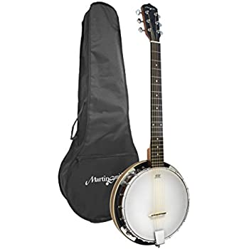 Martin Smith BJ-003 6 String Guitar Banjo Including Padded Gig Bag