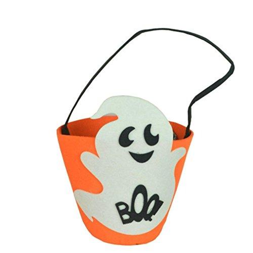 Bag Signature Over Bucket - Elevin(TM) Halloween Fashion Smile Pumpkin Bag Children Kids Candy Handbag Bucket Bag (A)