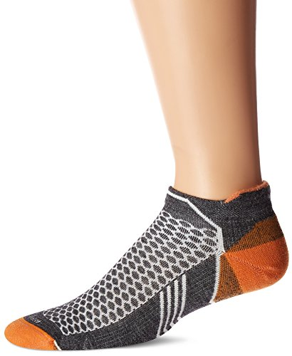Sockwell Mens Incline Inspire Athletic No Show Micro Socks  Charcoal  Large X Large