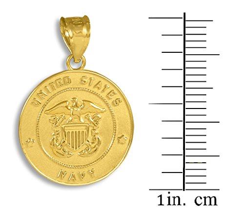 Petits Merveilles D'amour - 14 ct 585/1000 US Or Marine Pièce de Monnaie Pendentif
