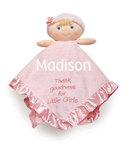 Kids Preferred Personalized Thank Goodness for Little Girls Doll Blanky Blanket - 13 Inches -