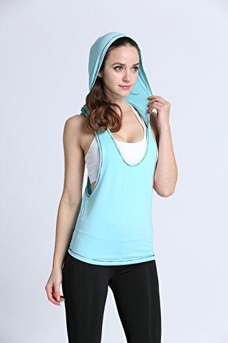 RUNNING GIRL - Camiseta sin mangas - para mujer Azul