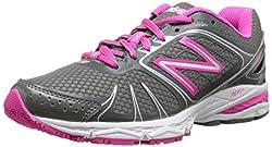 New Balance Women's W770V4 Running Shoe, Grey/Pink, 7.5 B US