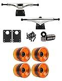 Core 7.0 Longboard Trucks Wheels Package 72mm x 56mm 83A 021C Orange Clear